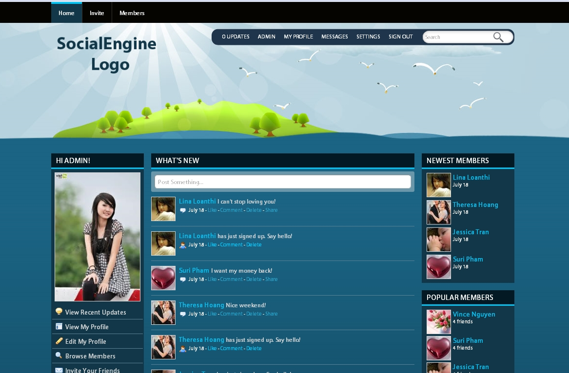 Social engine templates free download web templates free download wordpress joomla social pronofoot35fo Image collections